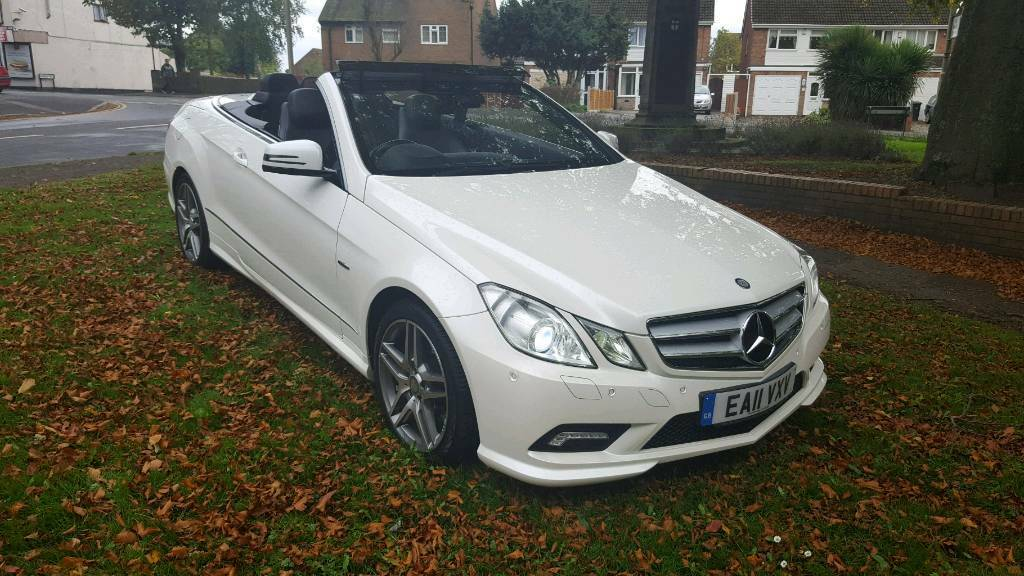 2011 Mercedes e350 cdi amg blue efficiency convertible auto