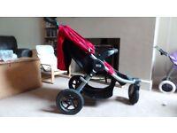 BRITAX B-Motion 3 Neon Chili Pushchair Single Seat Stroller