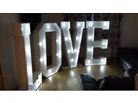 Love Letters for hire 5ft wedding or engagement party