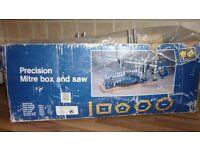 Precision Mitre box and saw cuts precise, accurate mitres