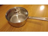 20cm Dunelm Saucepan with Lid - Brand New Cookware