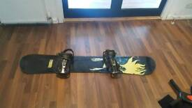 5ft adult Branded seven snow board with bindings