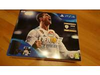 PS4 with Fifa 18 - Brand new factory sealed
