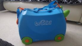 Blue Trunki Terrance Ride on Suitcase