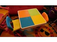 Super Kids LEGO / duplo table & 2 chairs