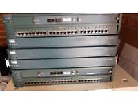 3x cisco 2600 routers and 2x cisco 2900 series XL switches