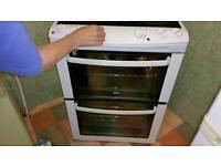 ZANUSSI ELECTRIC COOKER 60CM W. CERAMIC HOB 2 OVENS V CLEAN. £150 ONO