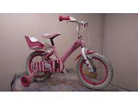 Girl bicycle. Hello Kitty Bike.