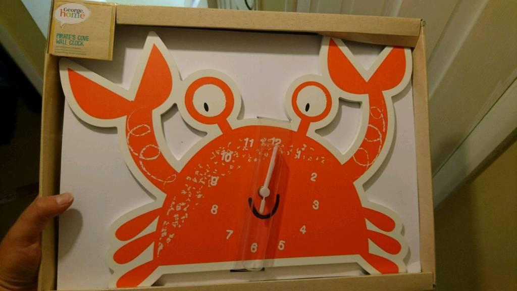 Childrens crab clock