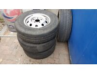 Peugeot Boxer Citroen Relay 16 inch wheels and Continental tyres 225/ R16
