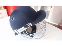 QUALITY FEARNLEY CRICKET FULL FACE PROTECTIVE ADJUSTABLE FACE GUARD CRASH HELMET + INNER STRAPS G/C