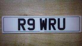 """ R 9 W R U "" PRIVATE /CHERISHED NUMBER PLATE"