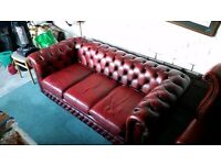 Chesterfield leather suite wanted.