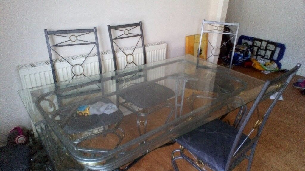 Iron And Gl Dining Table Design Ideas