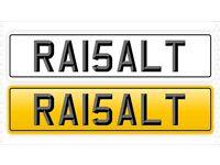 Private plate cherished RA15 ALI