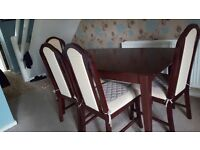 Dining table and 4 chairs for quick sale