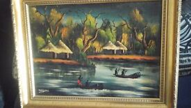 Antique African Painting