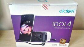 "NEW Alcatel Idol 4 Smartphone, Android, 5.2"", 4G, SIM Free, 16GB VR Goggles"