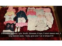 Different sizes baby girl bundles