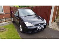 Ford Focus 2003 1.8 LX Black Petrol Manual 5 Door Hatchback 2 previous owners