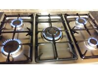Kenwood 90cm Cooker 5 burners gas dual Ovens and a Grill