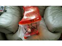 small fish tank with ston cleaner pump food
