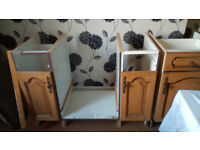 Kitchen units with doors