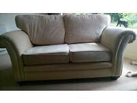 Cream Velour Sofa