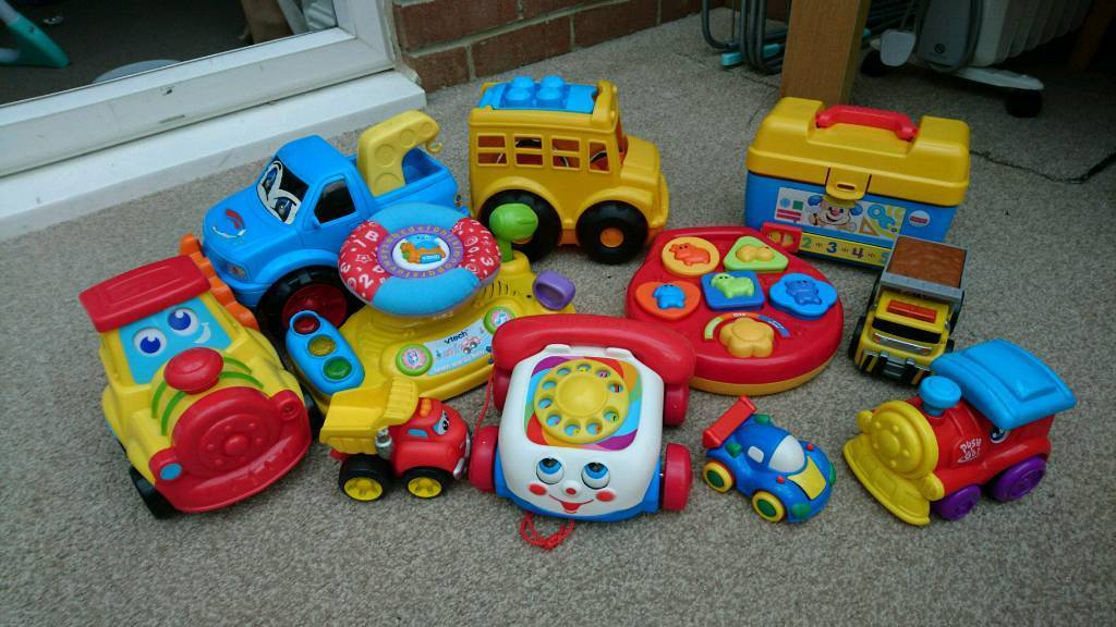 Mixture of toys