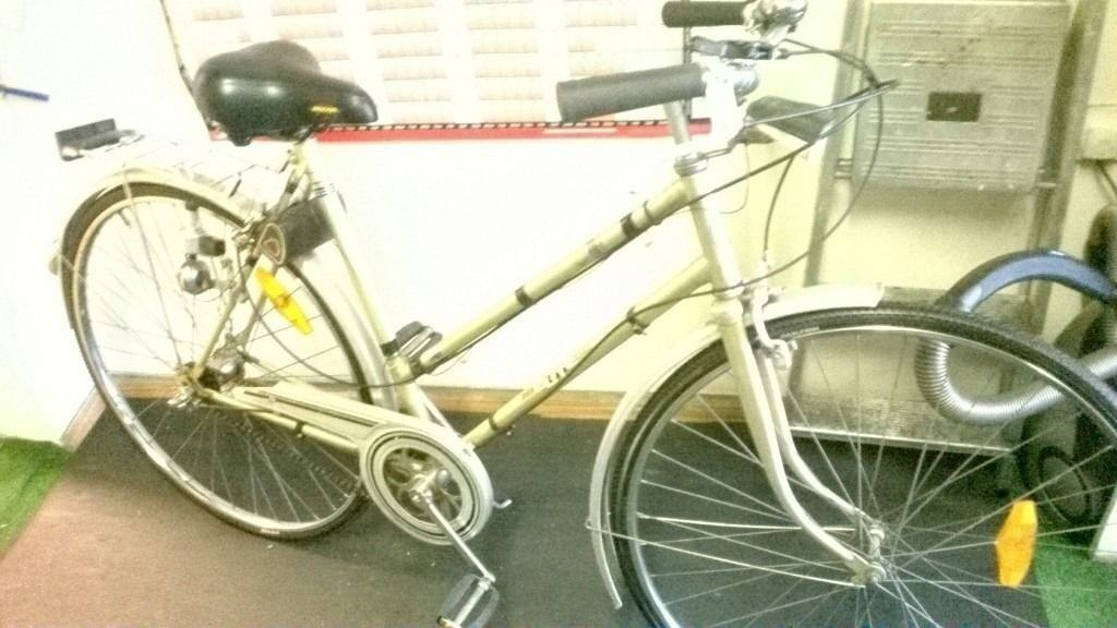 """CONTINENTAL HYBRID NEW TYRES FULLY RESTOREDin Bournemouth, DorsetGumtree - Fully restored Elite continental hybrid comes with our promise guarantee Includes Clean silvery 19"""" frame NEW TYRES Wrap round bars Wide sprung saddle Stand Full mudguards Rack 3 speed hub no maintenance gears Full dynamo lights spares poach Lovely..."""