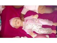 Baby annabelle learn to walk and walking sheep