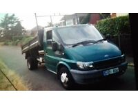 2001 Transit tipper low mileage