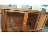 Large rabbit hutch and accessories
