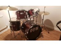 Drum Kit with Drum Mutes