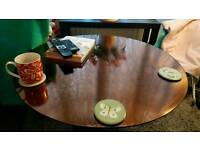 Next copper coloured mirrored coffee table