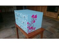 WHSmith cherry blossom drawer unit