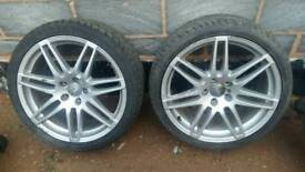 "2 x SINGLE 19"" AUDI S LINE LEMANS ALLOYS RS4 4F060125BA 7 Spoke"