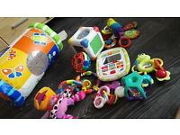 bundle of toys from 0-12 months