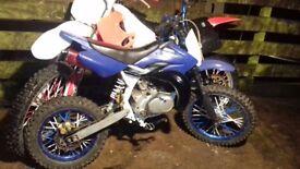 Pitbike with 100cc suzuki cougar engine