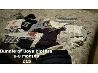 Job lot of boys baby clothes 6-9 months