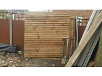Fence, posts and gravel boards