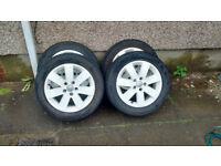 "Genuine Ford alloy wheels 16"" 5x108 Mondeo Focus Connect White"