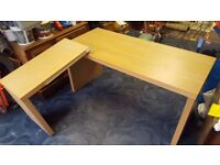 IKEA PULL-OUT DESK WITH PANEL - COLLECTION ONLY