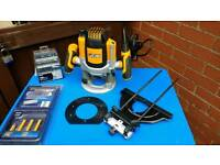 J.c.b. 1/2 inch router + accessories
