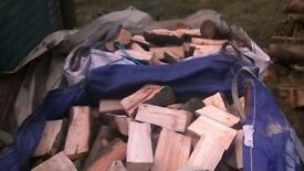 HARDWOOD LOGS ,READY TO BURN,BEECH.BIRCH,ASH,SOLD IN LARGE BUILDERS BAGS