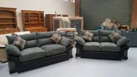 Limited stock Brand new luxury 3 & 2 seater sofas 7ft and 6ft can deliver 07808222995