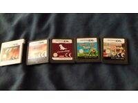 4 ds games and one 3ds game