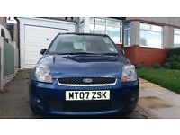 Ford Fiesta Zetec blue. Electric folding mirrors. Heated front and rear windows. Air conditioning.