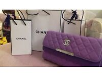 CHANEL HANDBAG (purple) - beautiful clutch bag with strap