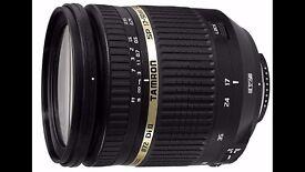 Tamron AF 17-50 mm F/2.8 XR Di II VC for Canon Camera body +Hoya UV filter + Sun Shade